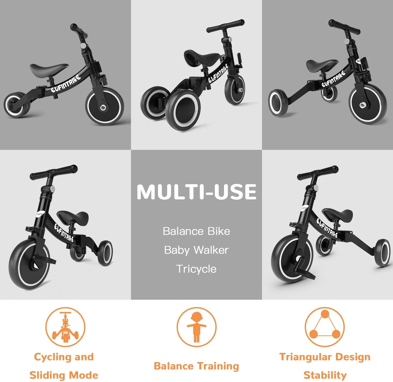 tricycle évolutif Bersey 5 en 1
